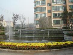 喷泉水景施工案例之周村旺龙花园喷泉