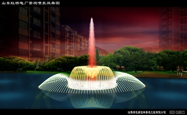 喷泉水景设计业绩图片